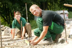 Landschaftsgärtner sind begehrte Fachkräfte.