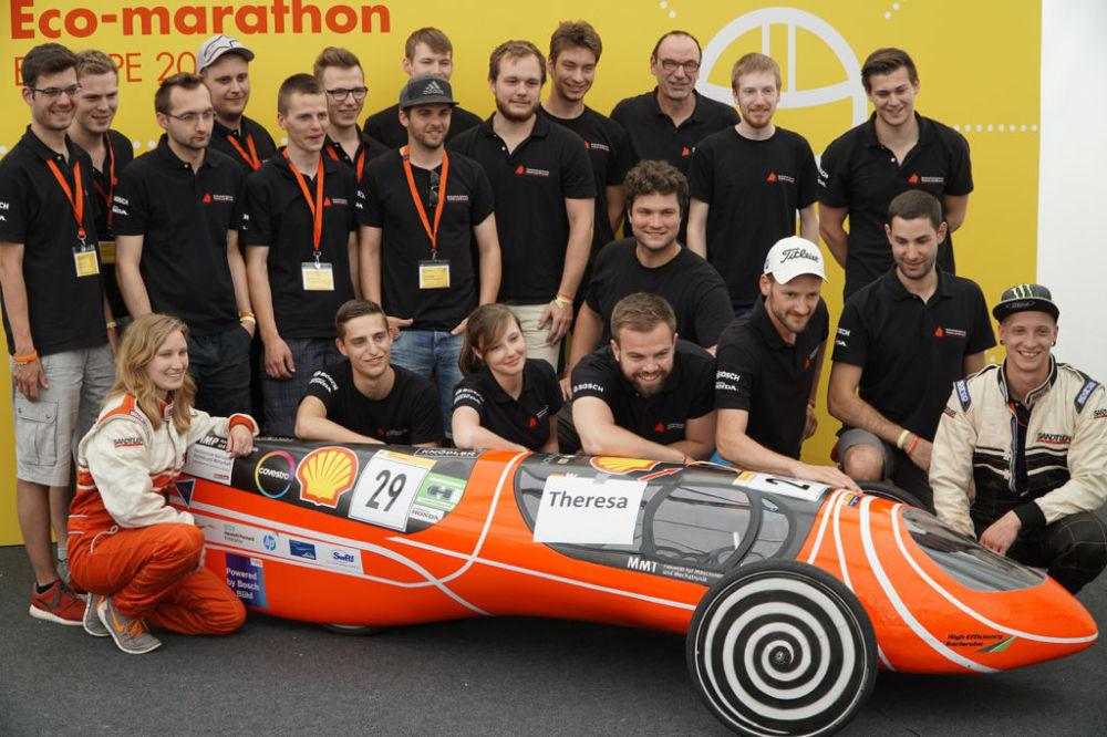 Team der Hochschule Karlsruhe: 579,2 Kilometer mit einem Liter Benzin