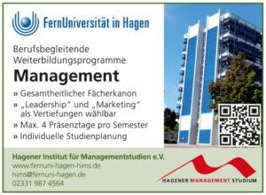 Hagener Institut für Managementstudien HIMS: Arbeitsbegleitende Weiterbildung