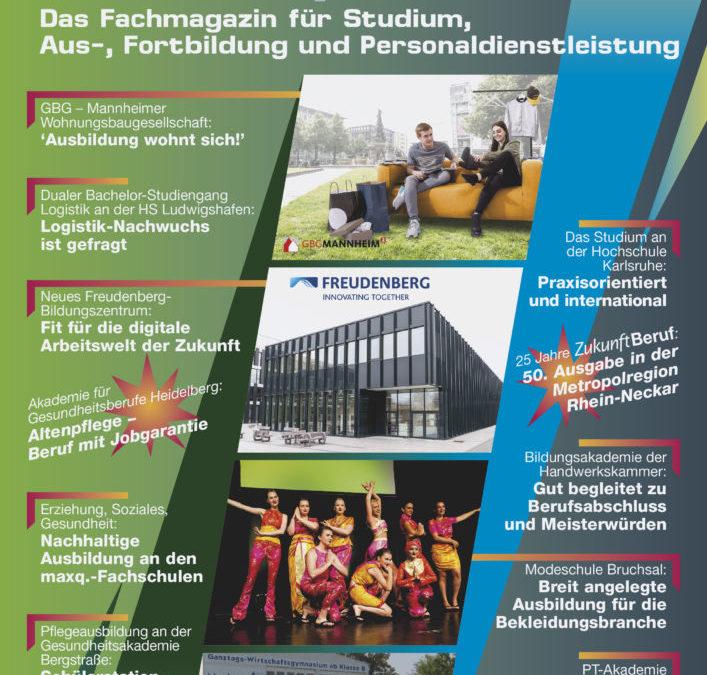 ZukunftBeruf: 50. Ausgabe Metropolregion Rhein-Neckar erschienen