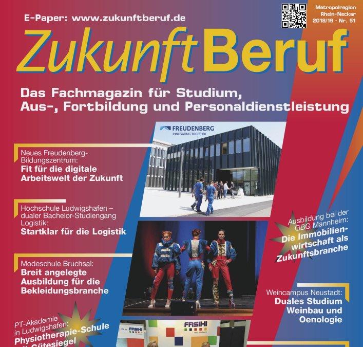 ZukunftBeruf: Neue Ausgabe Metropolregion Rhein-Neckar erschienen